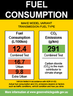 fuel consumption label green vehicle guide rh greenvehicleguide gov au 2009 fuel economy guide 2014 Fuel Mileage Guide